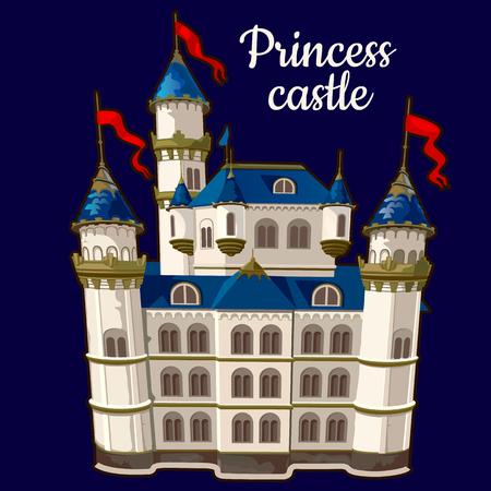 castle: Image Princess castle on a blue background