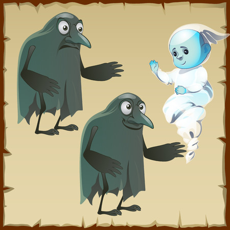 crows: Sad and cheerful ghosts with beak crows