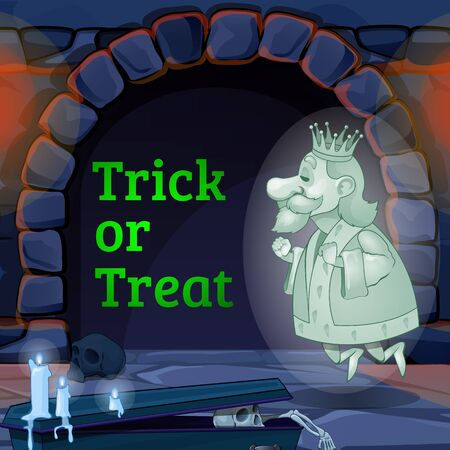 flying coffin: Ghost of the king in the castle and the text trick or treat