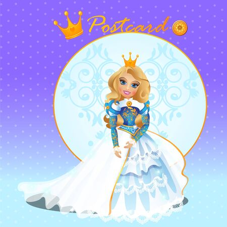 fictional character: Fictional character doll Queen in a gorgeous dress Stock Photo