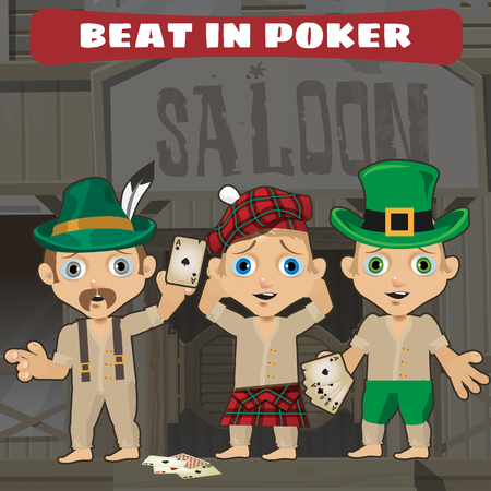 saloon: Cowboys in the saloon beat in poker