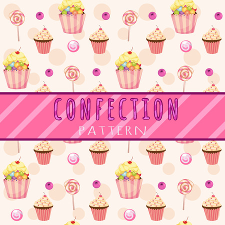 jellybean: Cakes pattern on a light pink background