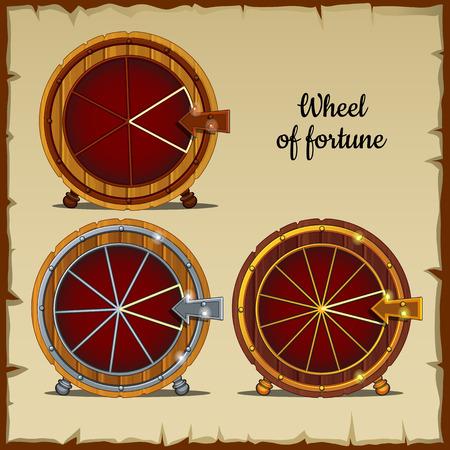 rueda de la fortuna: Rueda arcaico de la fortuna con el sector Vectores