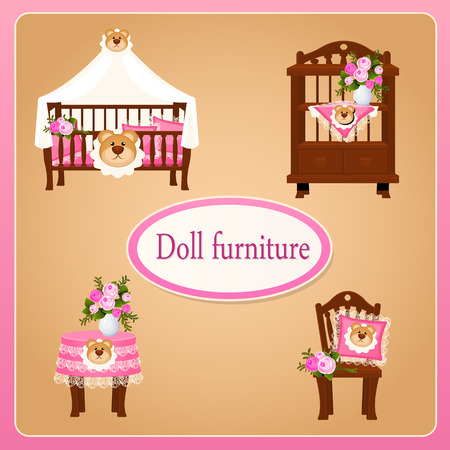 dollhouse: Dollhouse furniture for childrens room