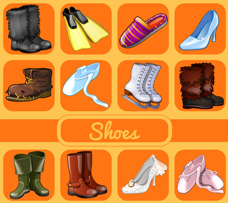 Set of shoes for all seasons and occasions, 12 varieties of shoes