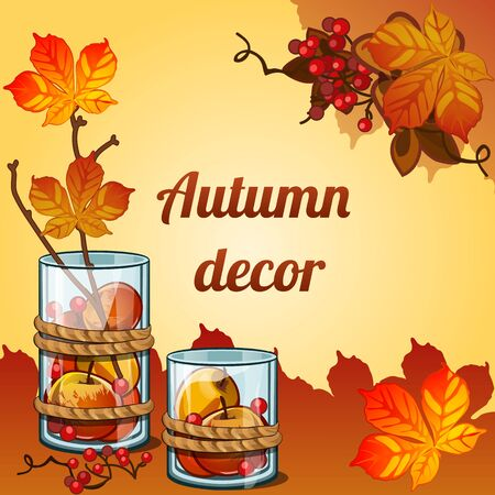 grower: Gifts of the Golden autumn collected in a beautiful decor Illustration