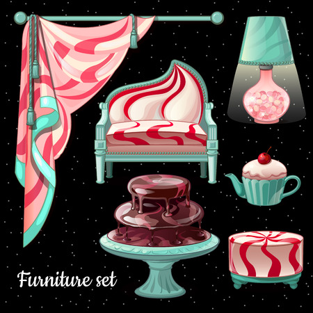 padded stool: Themed interior design in caramel decor, 6 items for your design needs