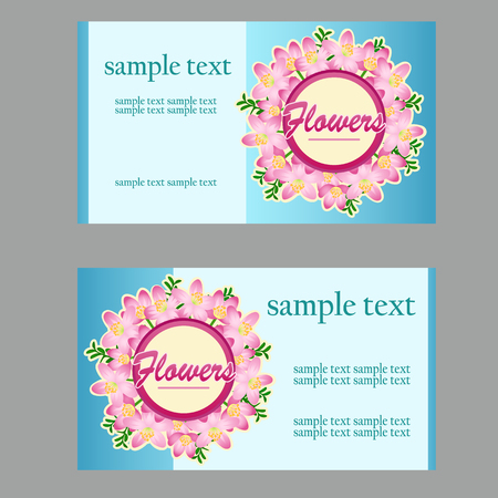 buttercup  decorative: Two business cards with floral disign for your needs