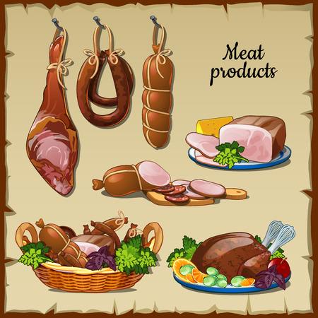jamones: Deliciosas salchichas, jamones y otros productos cárnicos y