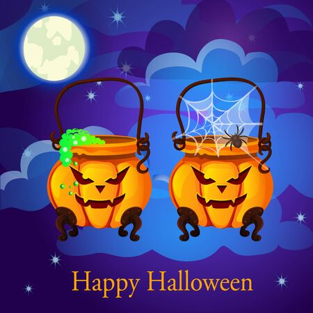twin: Evil twin pumpkin in the form of boilers and sample text