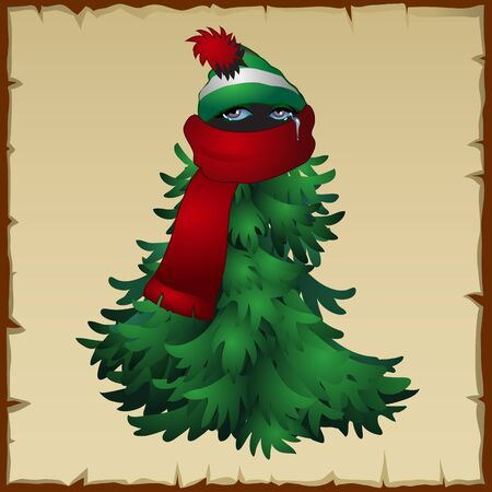 disguised: Animal ninja disguised in a Christmas costume, fun character