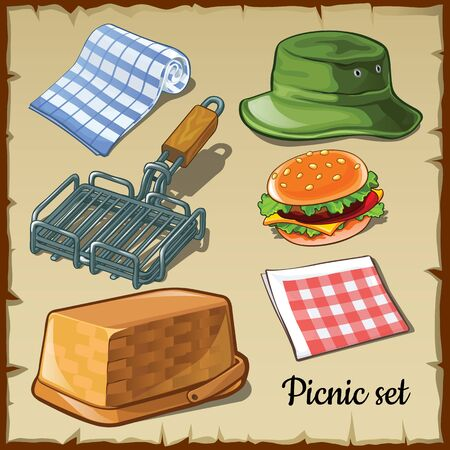 chargrill: Set for those who gathered at the weekend for a picnic Illustration
