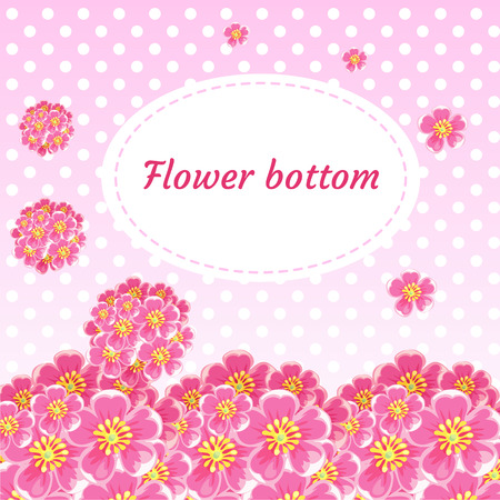 retro flowers: Floral background with flower buds and bouquets of cherry tree