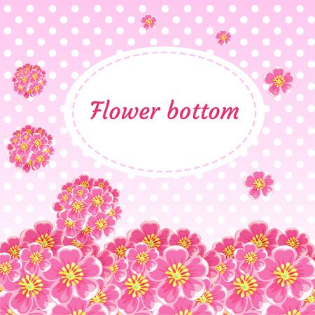 flores chinas: Fondo floral con los botones florales y ramos de flores de cerezo Vectores
