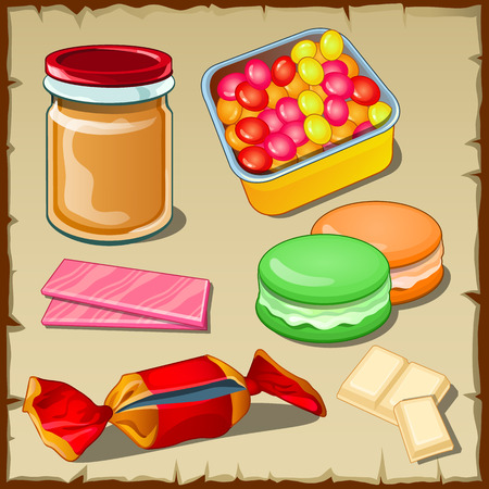 jellybean: Great vector set of sweets for any occasion, five sweet icons