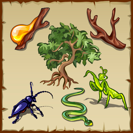 sorts: Plants, insects and all sorts of other vector creatures Illustration