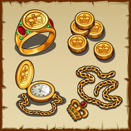 monies: Symbols of wealth and power, Royal gold and treasures