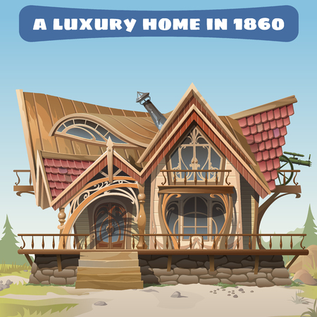 18th: Luxurious antique house of the 18th century in the Wild West