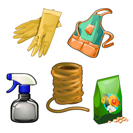 pinafore: Set of tolls to care for the garden and home, five items