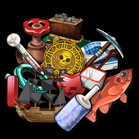 inventor: A lot of different tools for the traveler and inventor, bass ship