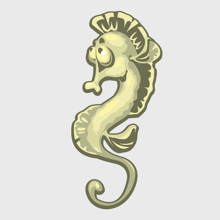 horsefish: Isolated image of a sea horse, icon for your design needs