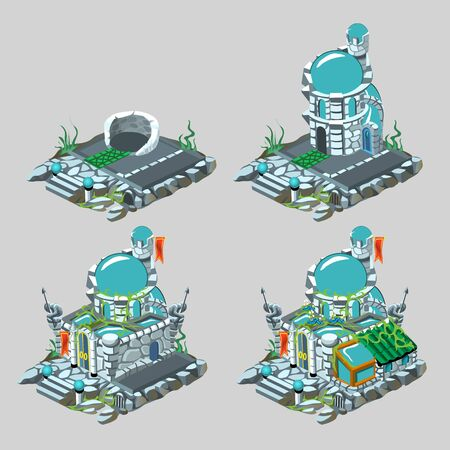 walled: Underwater castle, construction process in four images