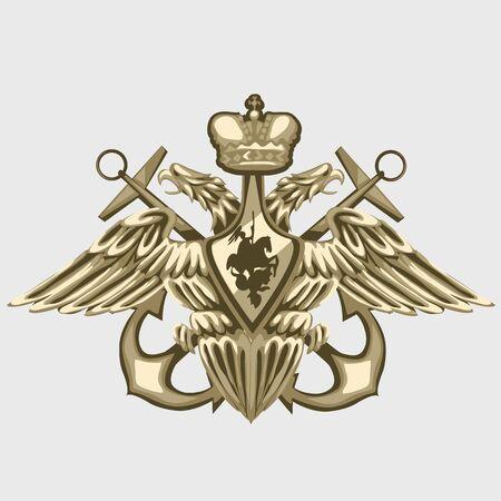 fleet: Bronze coat of arms of the Russian fleet