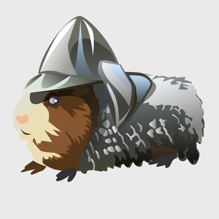rodent: Rodent in knights armor, cartoon vector animal series Illustration