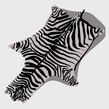 rug: Skin rug Zebra for interior, cartoon style