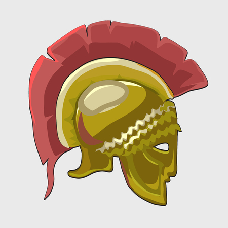 vestment: Icon historical knights helmet in flat style, silhouette of the head