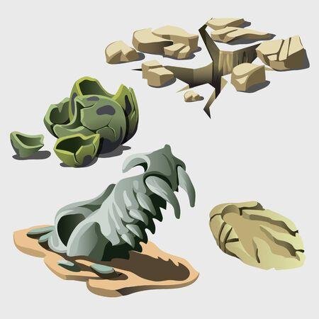 Cráneo del animal, se mantiene, y los elementos de la prehistoria. Historia de un cataclismo histórico y la extinción de los dinosaurios