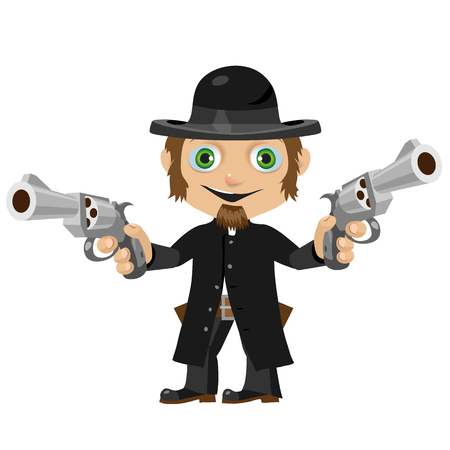 Wild West fictional cartoon character -  former priest