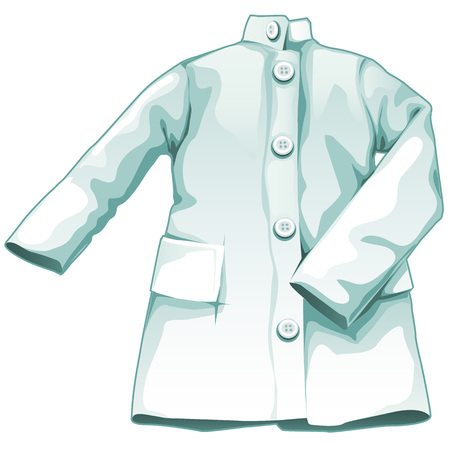 gown: White medical gown, working uniform medical