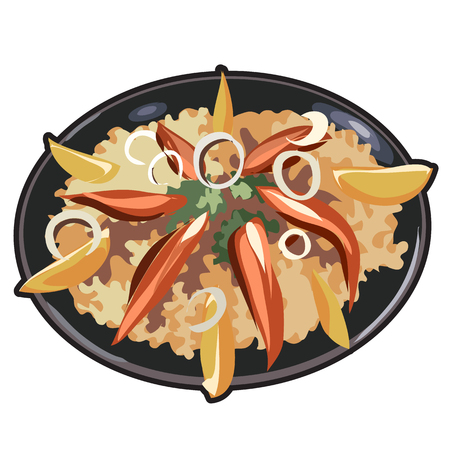 appetizing: Appetizing dish for menu, website and other design needs. Vector illustration isolated