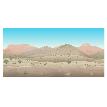 Scene creative, landscape of the wild West, arid nature and plants, Prairie