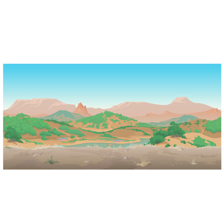 canyon: Landscape of wild West, Scene creative. Sunny day in the canyon