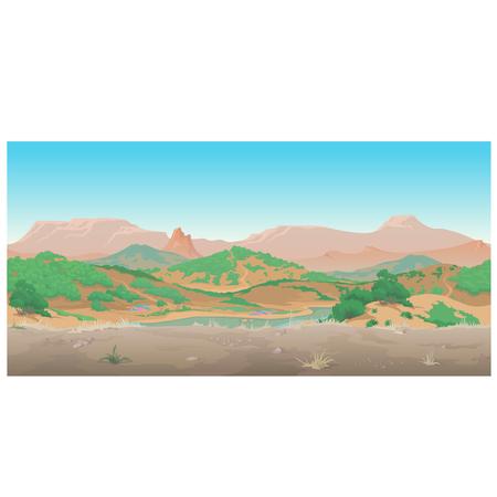 arizona sunset: Landscape of wild West, Scene creative. Sunny day in the canyon