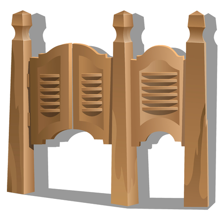 tavern: Hinged door in tavern or bar. Element of interior in Wild West style