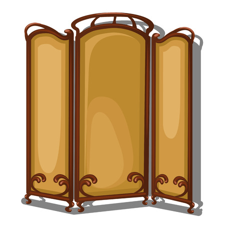 hinges: Folding screen on a white background. Vector isolated