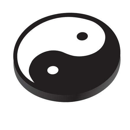 harmony: Sign Yin Yang, symbol of peace, contrast, harmony, vector illustration isolated