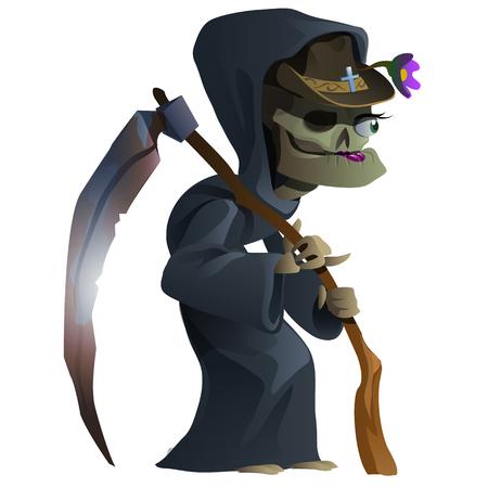 hag: Old female skeleton, the grim Reaper. Cartoon character