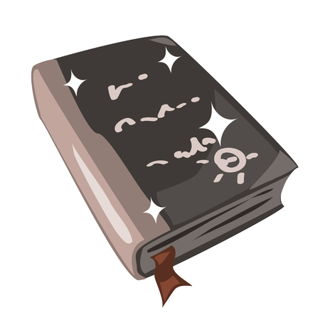 rarity: Ancient magic spell book. Icon in cartoon style for games and other design needs