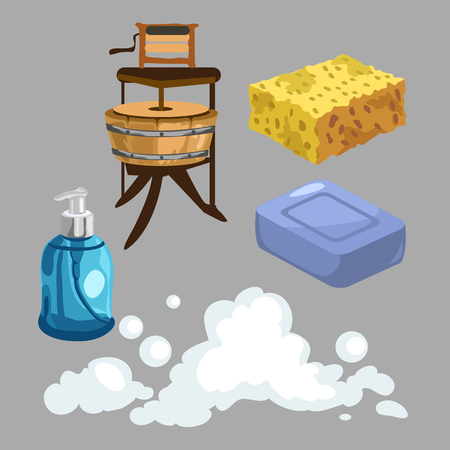 showering: Accessories for washing and showering Illustration