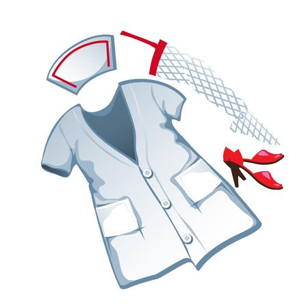 medical headwear: medical suit in cartoon style