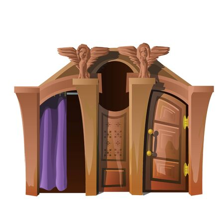 confession: Church room for confession isolated vector
