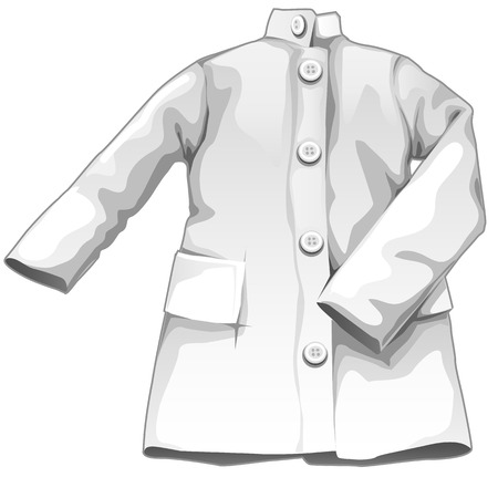 infirmary: White medical gown, vector medicine icon on white background