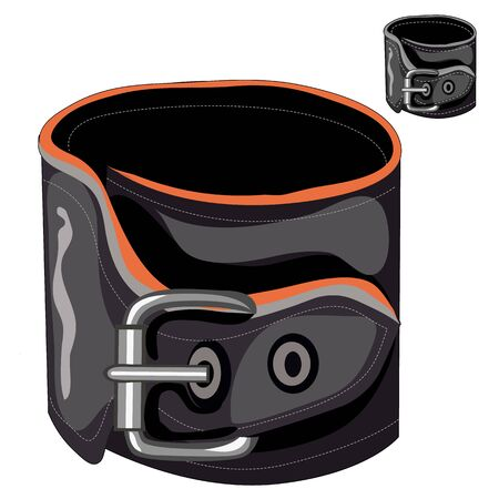 buckle: Leather mens bracelet with a buckle, vector isolated