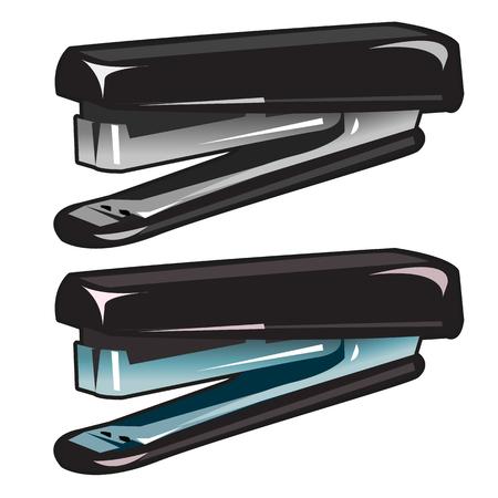 stapling: Two modern office stapler on white background