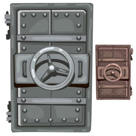 impenetrable: Steel open door of bunker. Vector illustration isolated