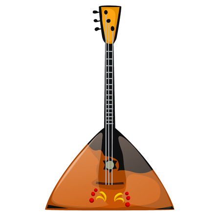 balalaika: Musical instrument balalaika on a white background. Vector illustration isolated